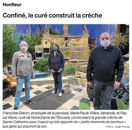 Ouest-France 29112020 - Photo crèche